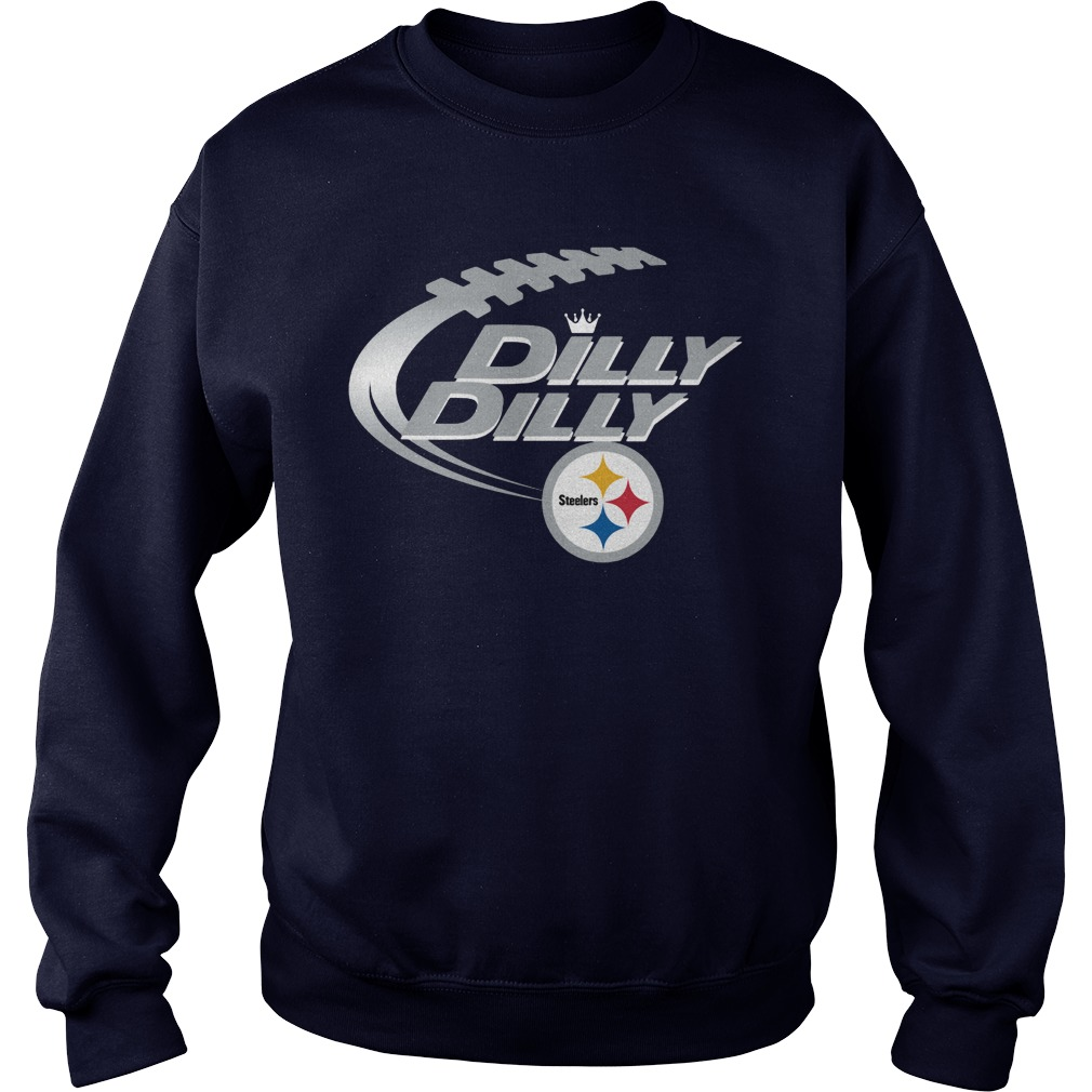 Offical Dilly Dilly Pittsburgh Steelers Nfl Football Bud Light Logo Sweater
