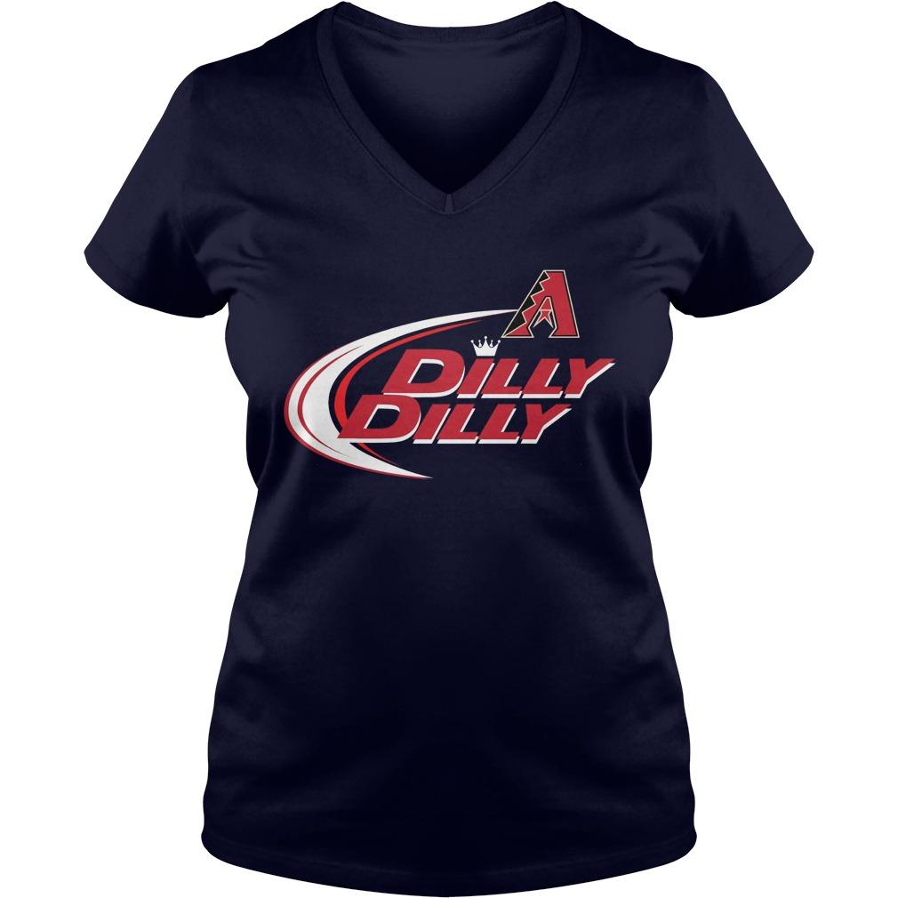Official Dilly Dilly Arizona Diamondbacks Bud Light Mlb Baseball V Neck T Shirt