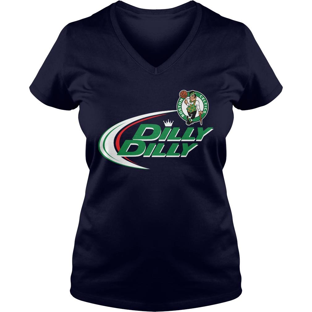 Official Dilly Dilly Boston Celtics Bud Light Baseball V Neck T Shirt