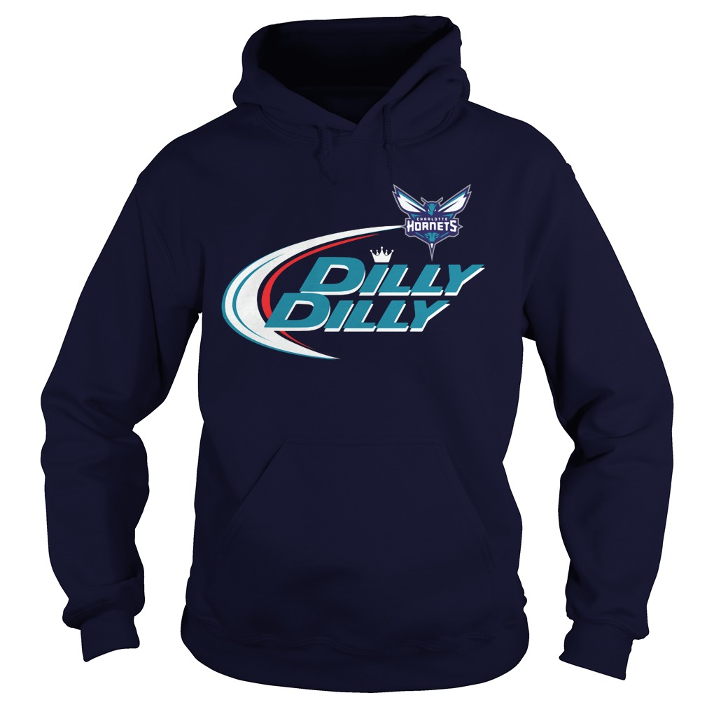 Official Dilly Dilly Charlotte Hornets Bud Light Baseball Hoodie