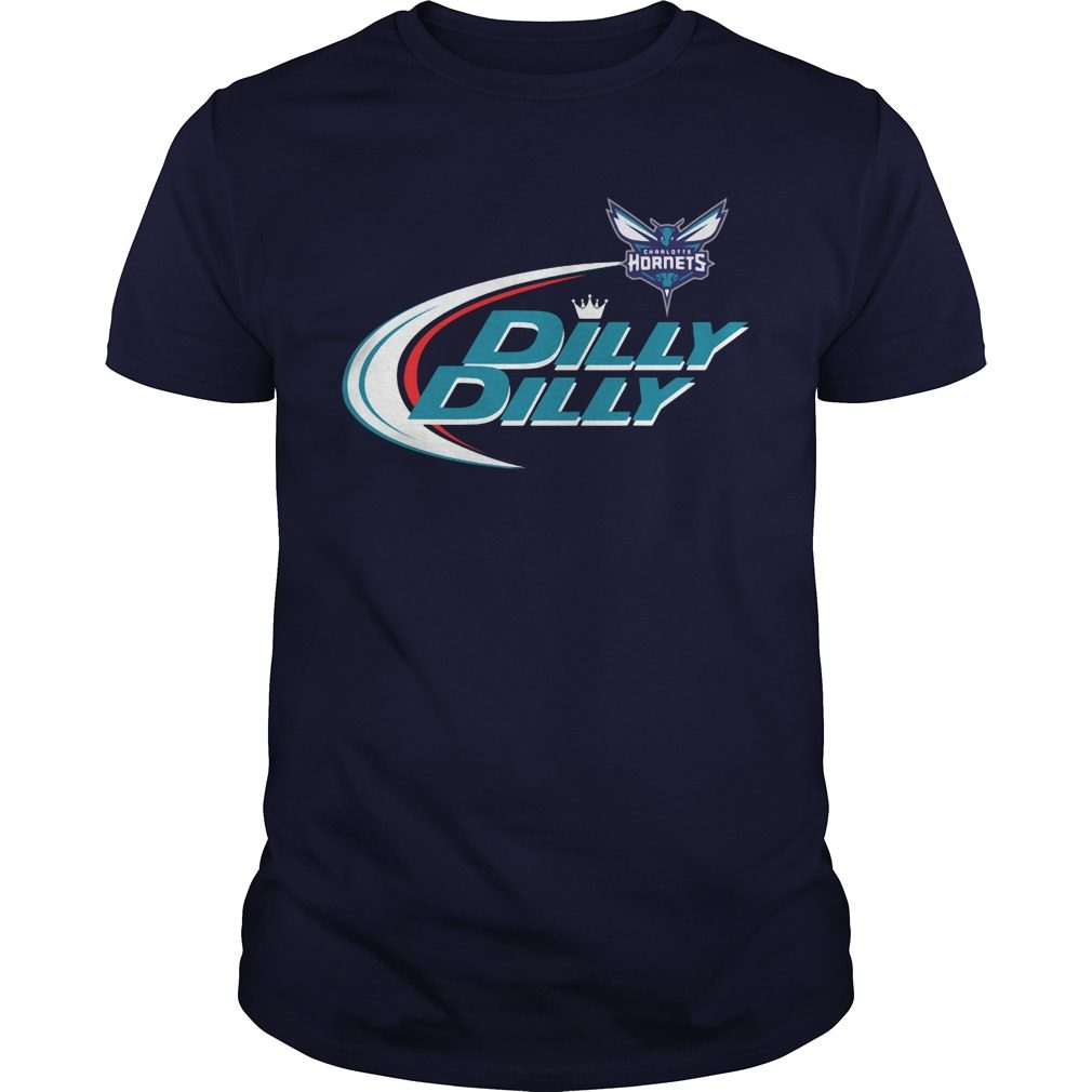 Official Dilly Dilly Charlotte Hornets Bud Light Baseball Shirt
