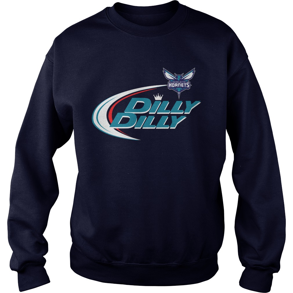 Official Dilly Dilly Charlotte Hornets Bud Light Baseball Sweater