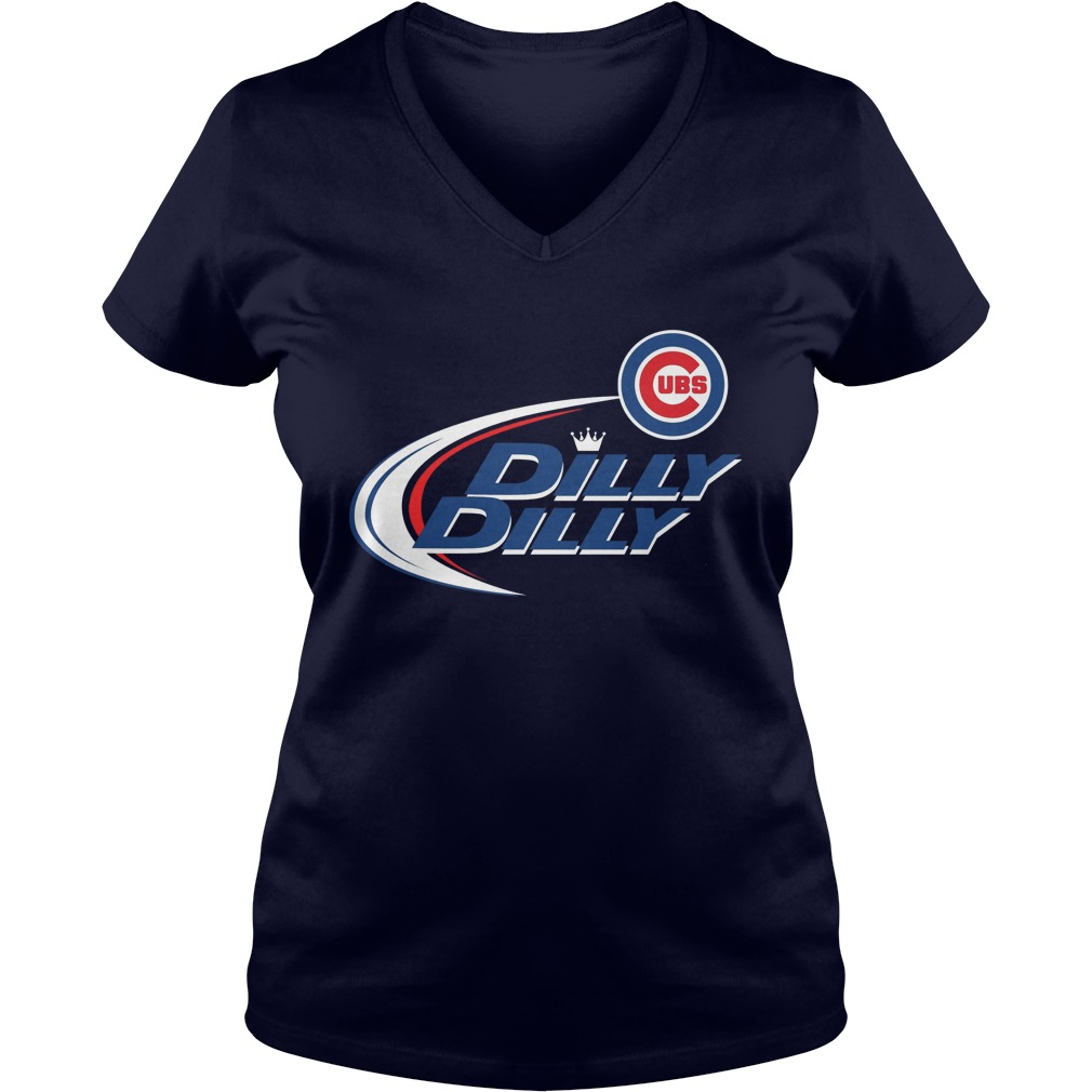 Official Dilly Dilly Chicago Cubs Bud Light Mlb Baseball V Neck T Shirt