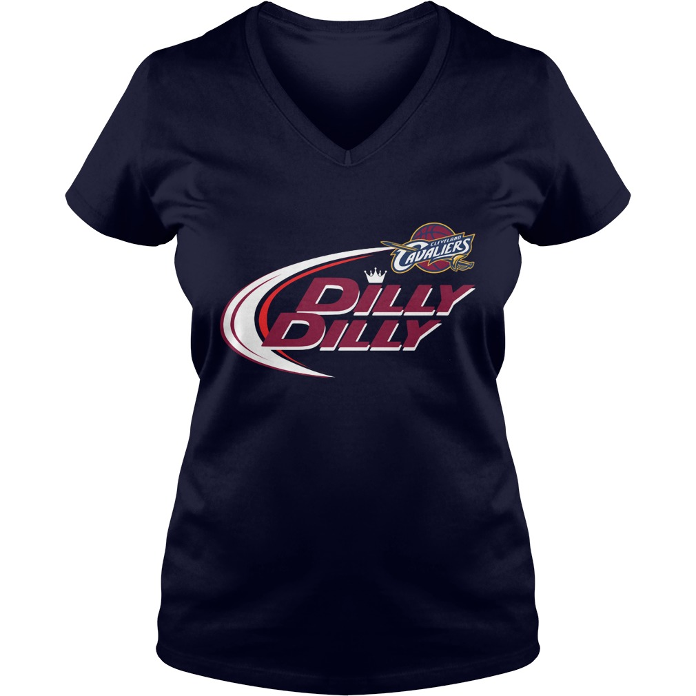 Official Dilly Dilly Cleveland Cavaliers Bud Light Baseball V Neck T Shirt