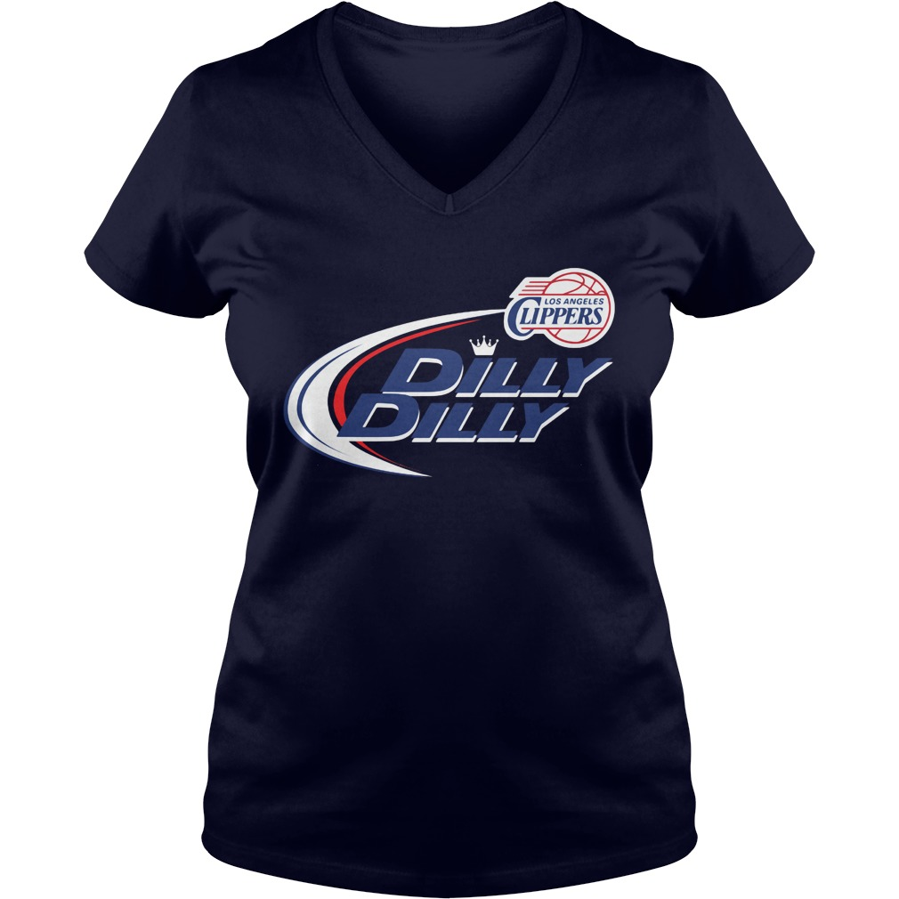 Official Dilly Dilly Clilos Angeles Ppers Bud Light Baseball V Neck T Shirt