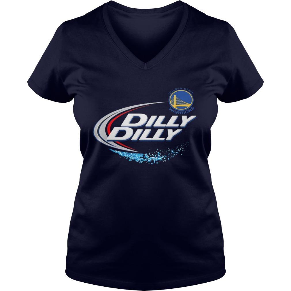 Official Dilly Dilly Golden State Warriors Bud Light Mlb Baseball V Neck T Shirt
