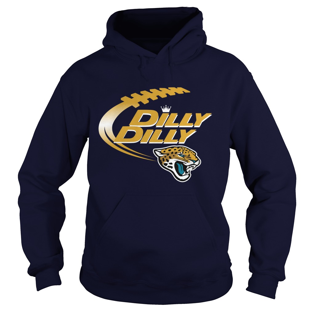 Official Dilly Dilly Jacksonville Jaguars Nfl Football Bud Light Logo Hoodie
