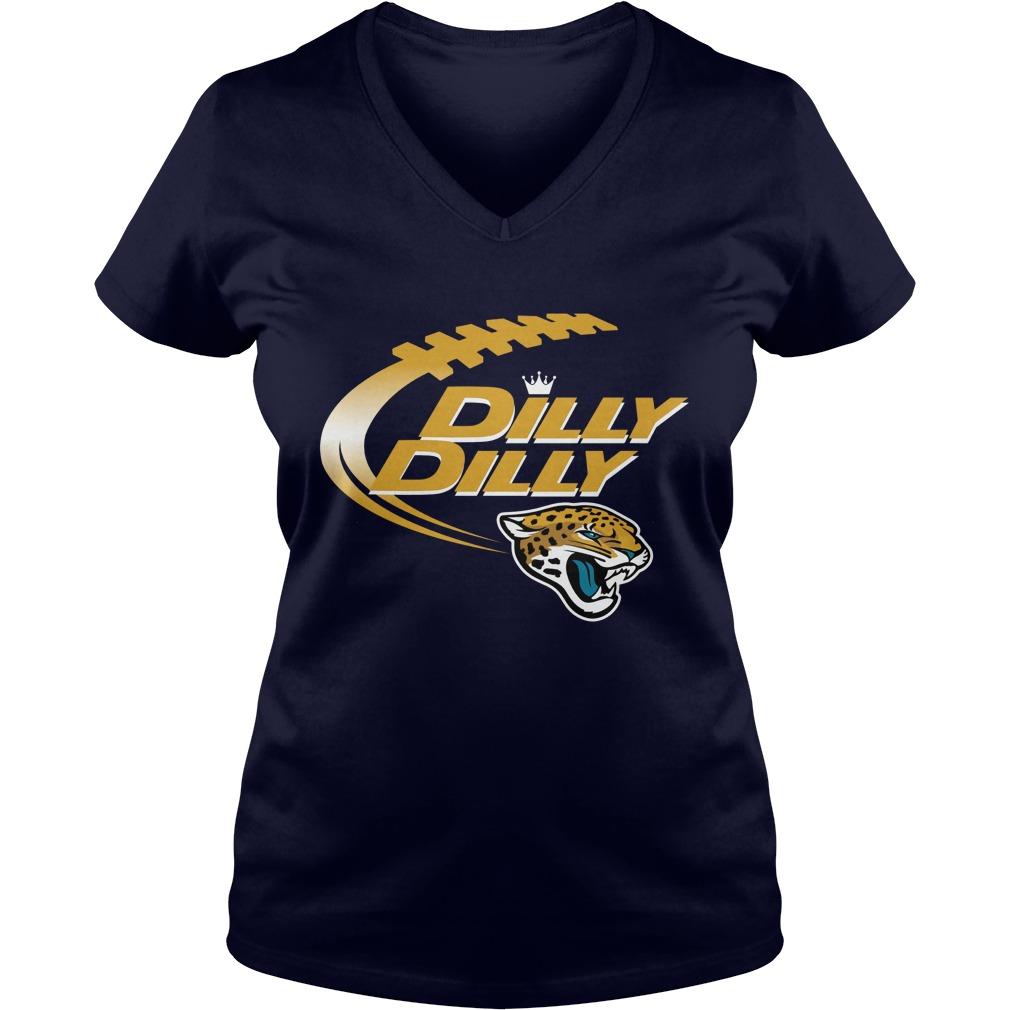 Official Dilly Dilly Jacksonville Jaguars Nfl Football Bud Light Logo V Neck T Shirt