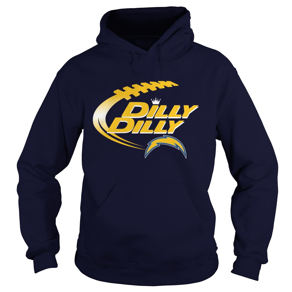 Official Dilly Dilly Los Angeles Chargers Nfl Football Bud Light Logo Hoodie