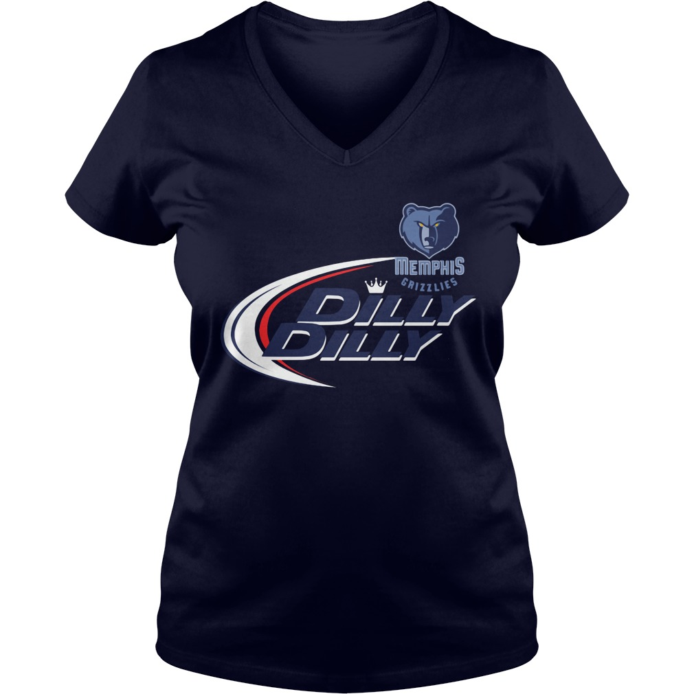 Official Dilly Dilly Memphis Grizzlies Bud Light Baseball V Neck T Shirt