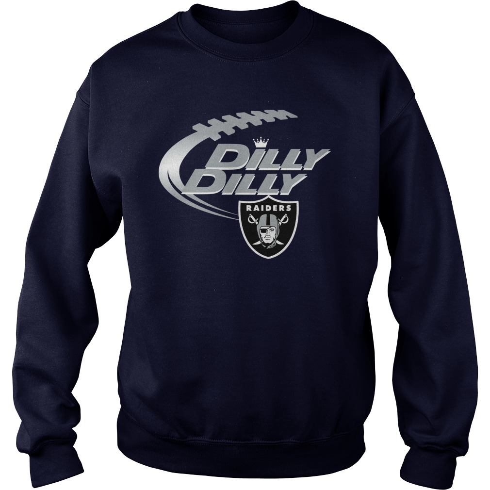 Official Dilly Dilly Oakland Raiders Nfl Football Bud Light Logo Sweater