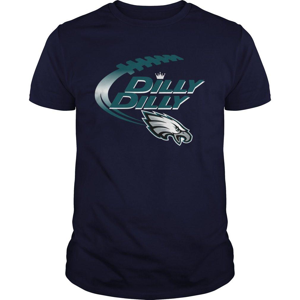 Official Dilly Dilly Philadelphia Eagles Nfl Football Bud Light Logo Shirt