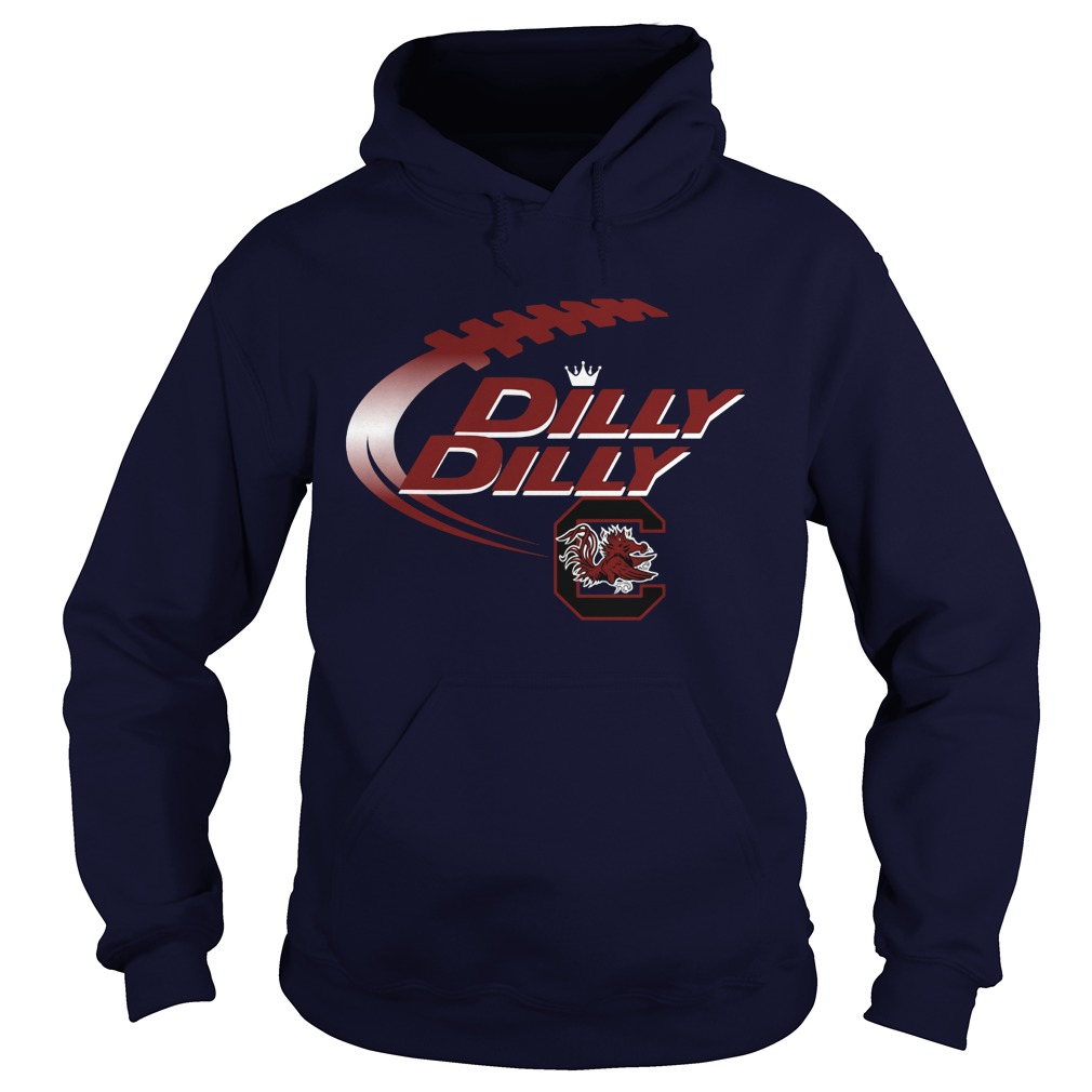 Official Dilly Dilly South Carolina Gamecocks Nfl Football Bud Light Logo Hoodie