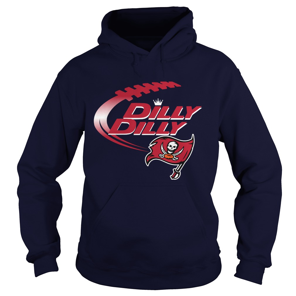 Official Dilly Dilly Tampa Bay Buccaneers Nfl Football Bud Light Logo Hoodie