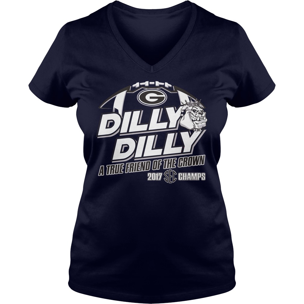 Official Dilly Dilly True Friend Crown 2017 Sec Champs V Neck T Shirt