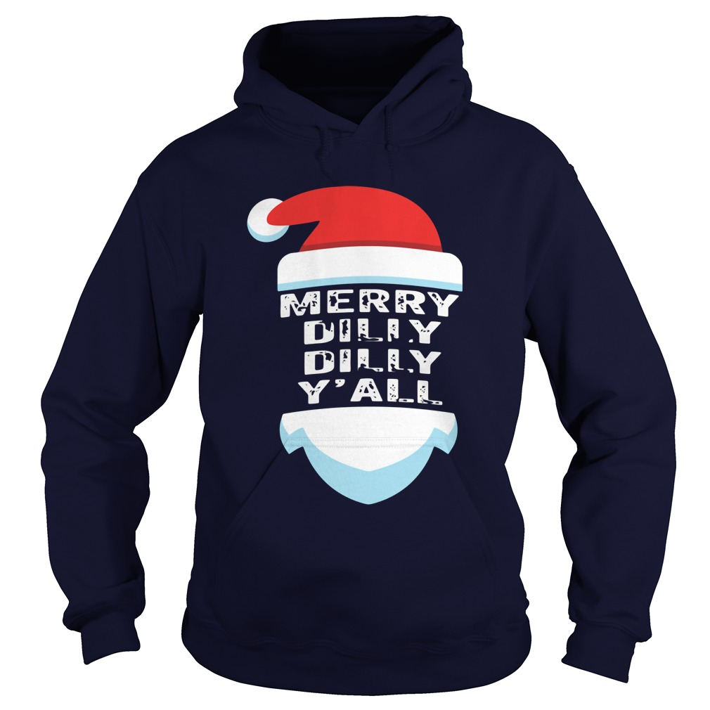 Official Dilly Dilly Yall Santa Hat Christmas Ugly Hoodie