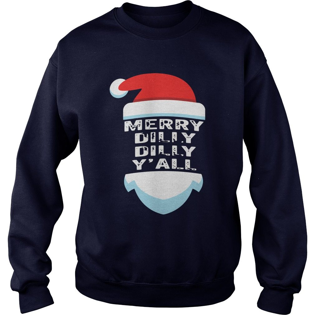 Official Dilly Dilly Yall Santa Hat Christmas Ugly Sweater