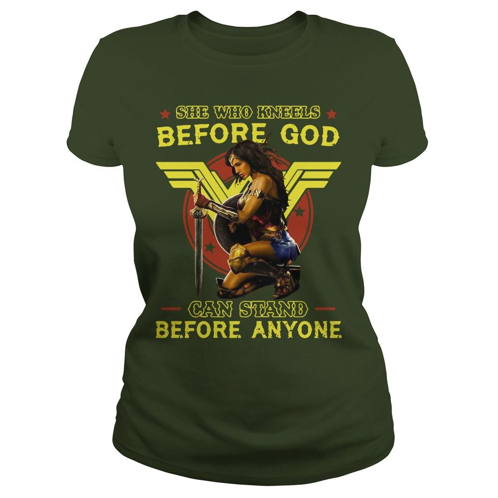 Official Kneels God Can Stand Anyone Ladies Tee