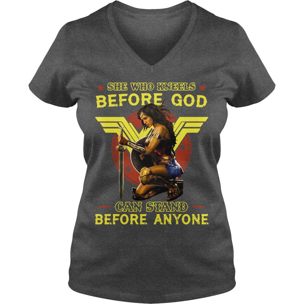Official Kneels God Can Stand Anyone V Neck T Shirt
