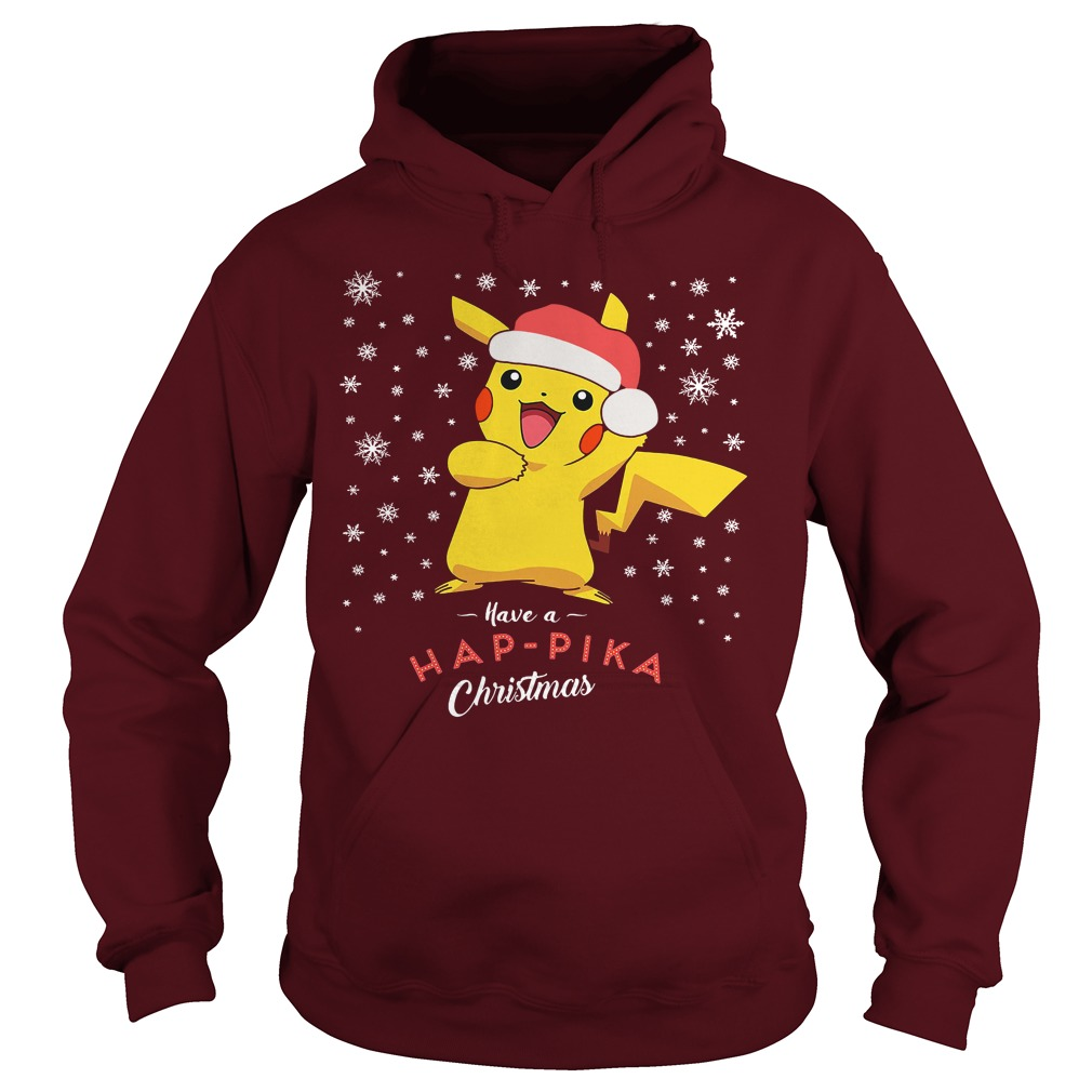 Pikachu Have A Happika Christmas Pokemon Hoodie