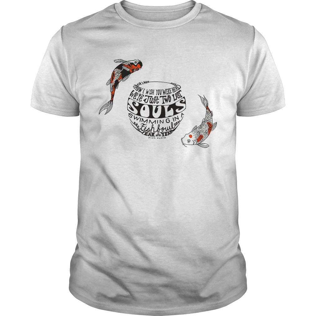 Pinkfloyd Just Two Lost Souls Swimming Fish Bowl Guys Shirt