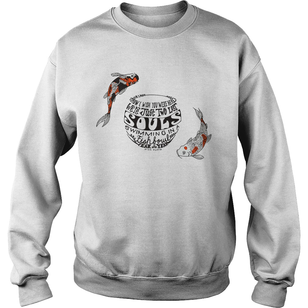 Pinkfloyd Just Two Lost Souls Swimming Fish Bowl Sweater