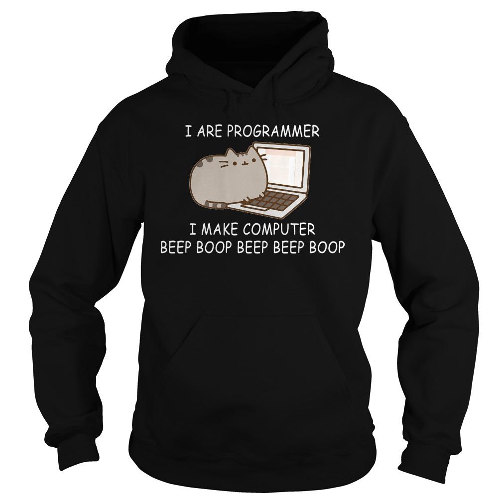 Programmer Make Computer Beep Boop Beep Beep Boop Coder Black Hoodie