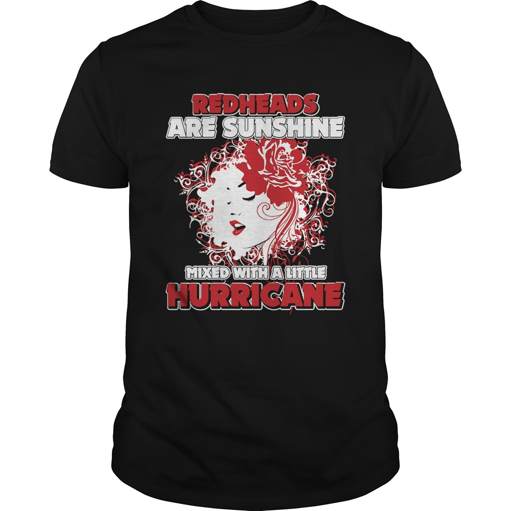 Redheads Sunshine Mixed Little Hurricane Girl Guys Shirt