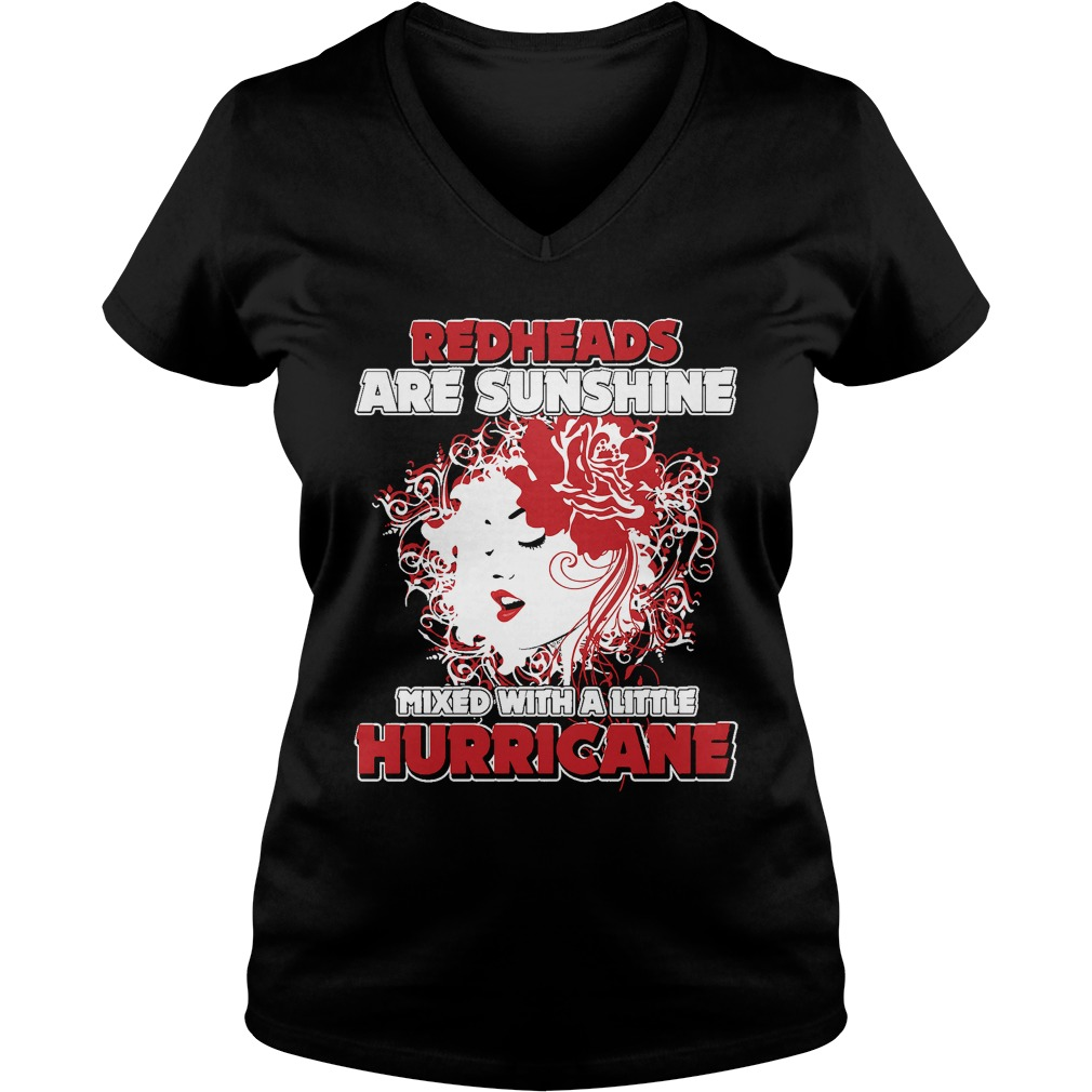 Redheads Sunshine Mixed Little Hurricane Girl V Neck T Shirt