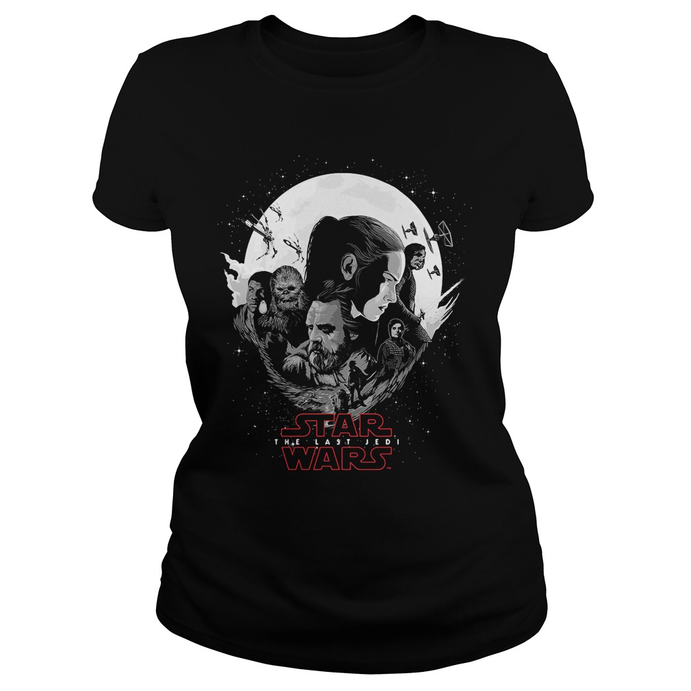 Rey Luke Skywalker Poe Chewbacca Finn Kylo Ren Ladies Tee