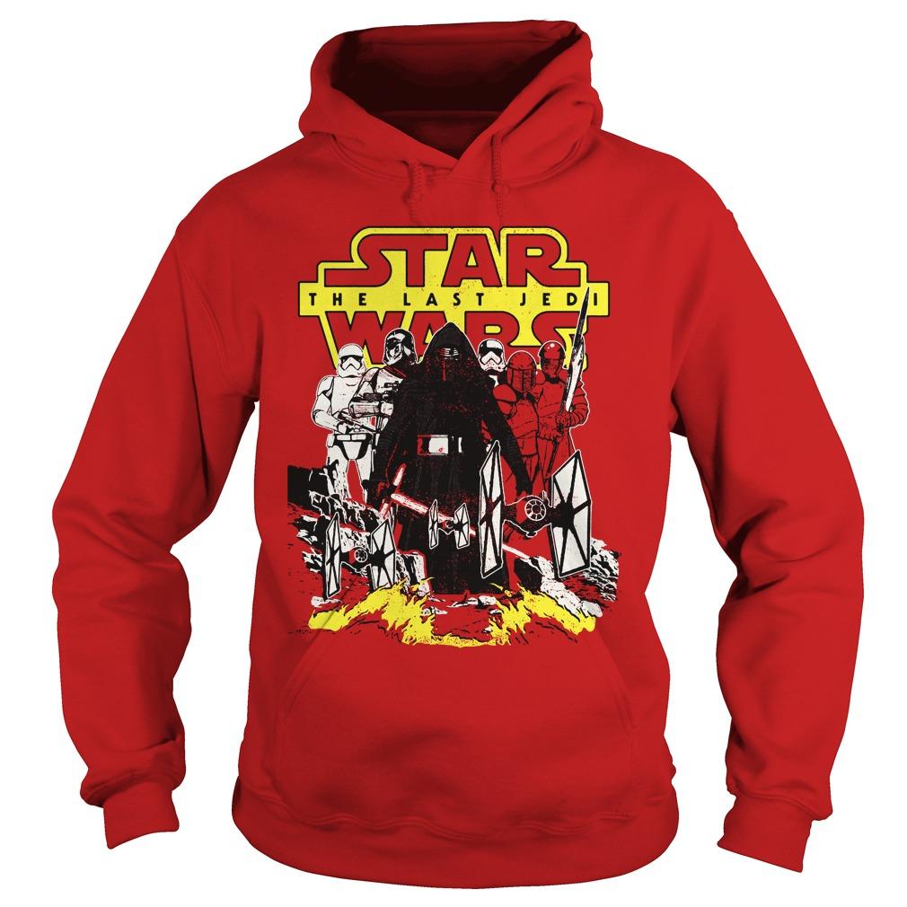 Star Wars Last Jedi Dark Side Comic Hoodie