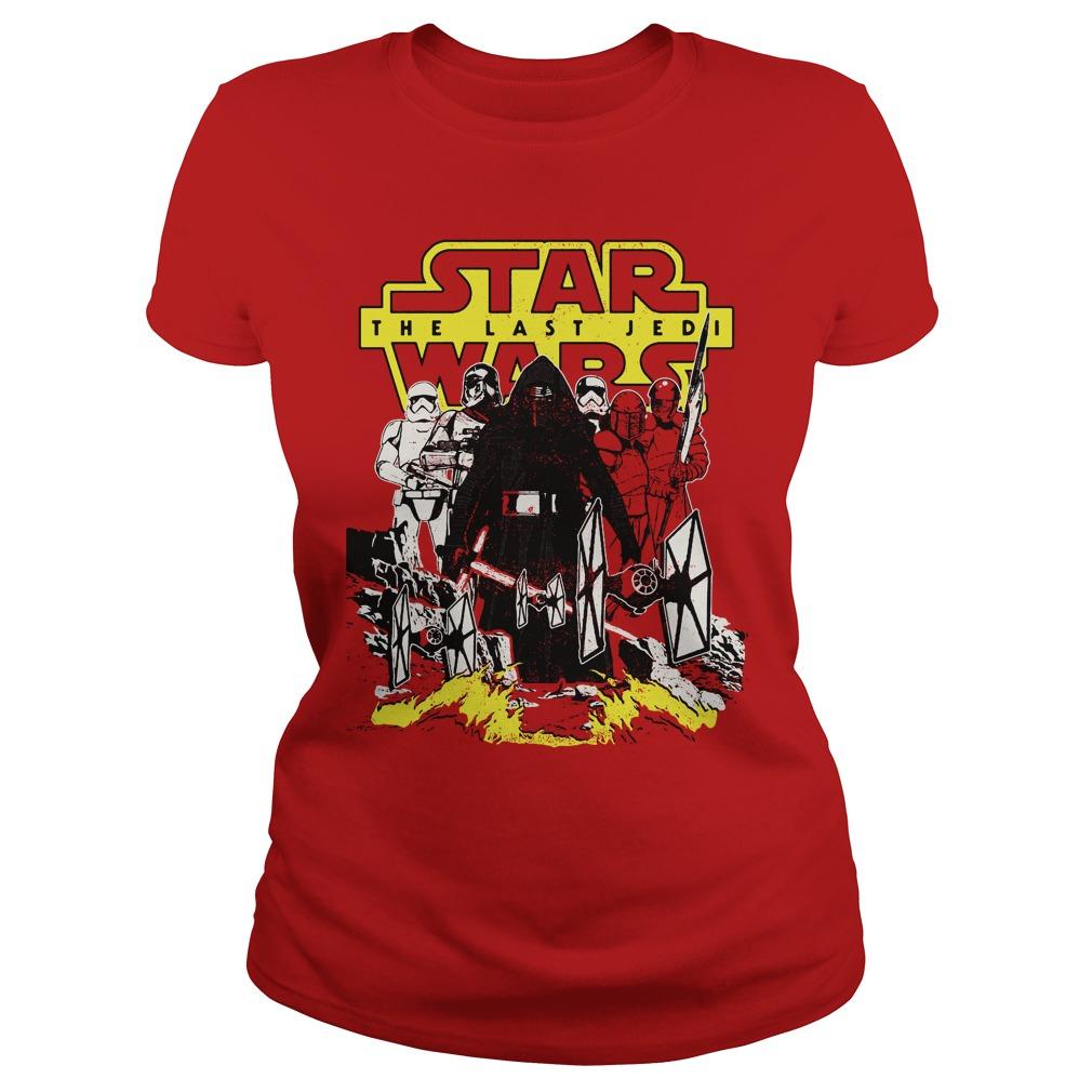 Star Wars Last Jedi Dark Side Comic Ladies Tee