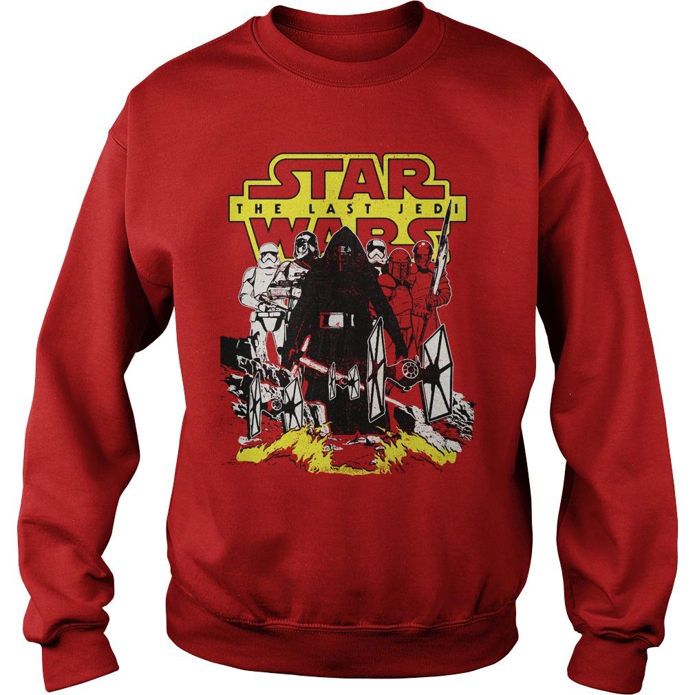 Star Wars Last Jedi Dark Side Comic Sweater