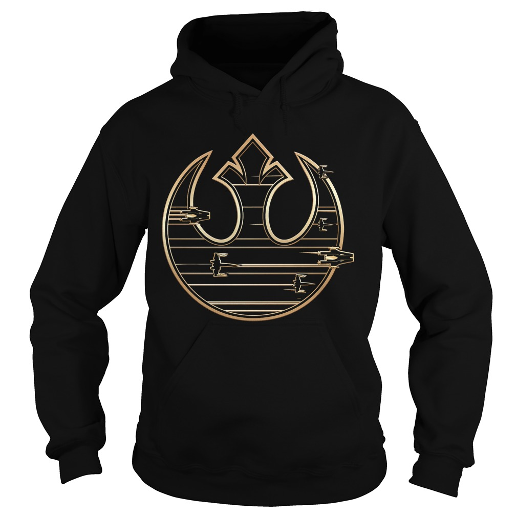 Star Wars Last Jedi Gold Rebel Alliance Logo Hoodie