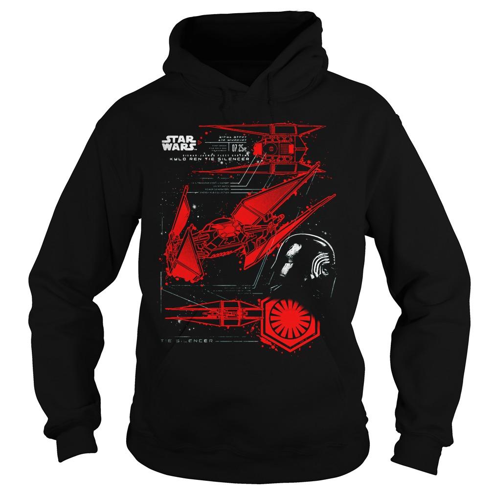Star Wars Last Jedi Kylo Rens Tie Silencer Hoodie