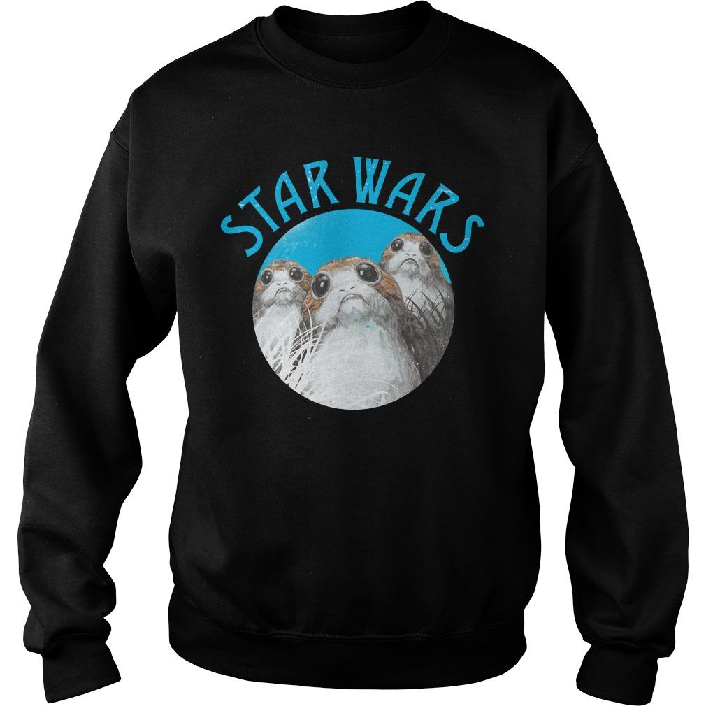 Star Wars Last Jedi Porg Trio Sweater