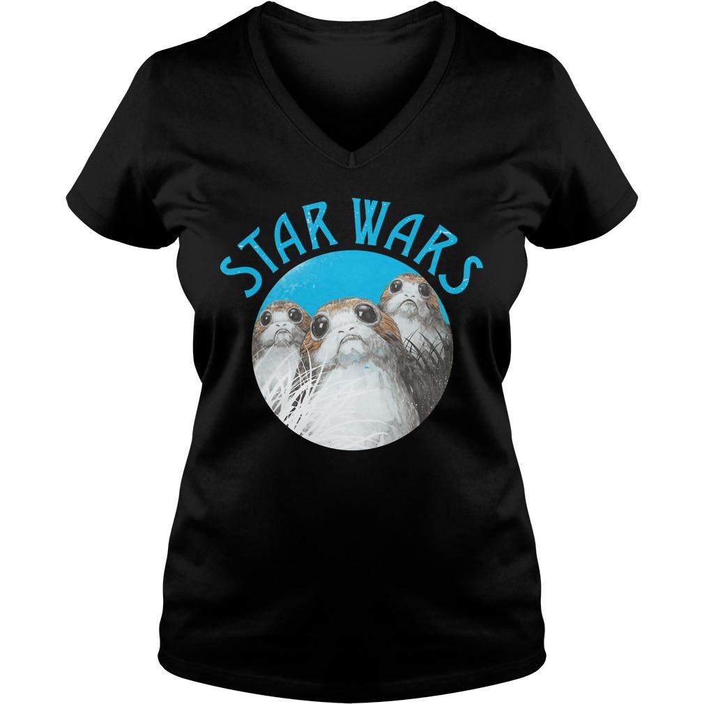 Star Wars Last Jedi Porg Trio V-neck t-shirt