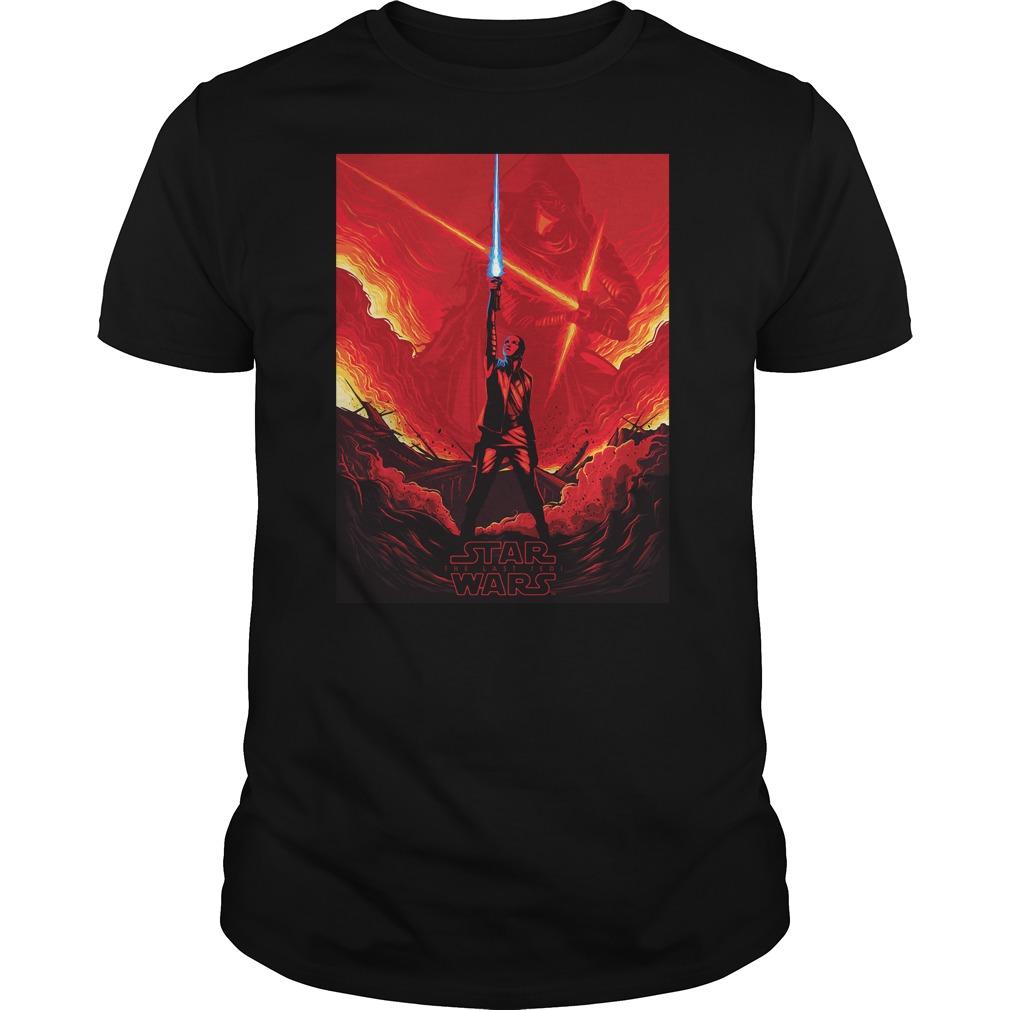 Star Wars Last Jedi Shirt Rey Versus Kylo Ren Guys Shirt