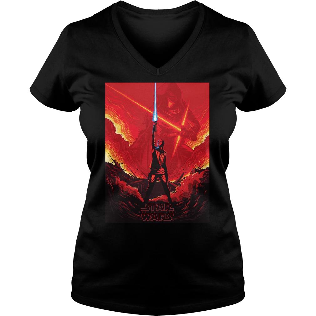 Star Wars Last Jedi Shirt Rey Versus Kylo Ren V-neck t-shirt