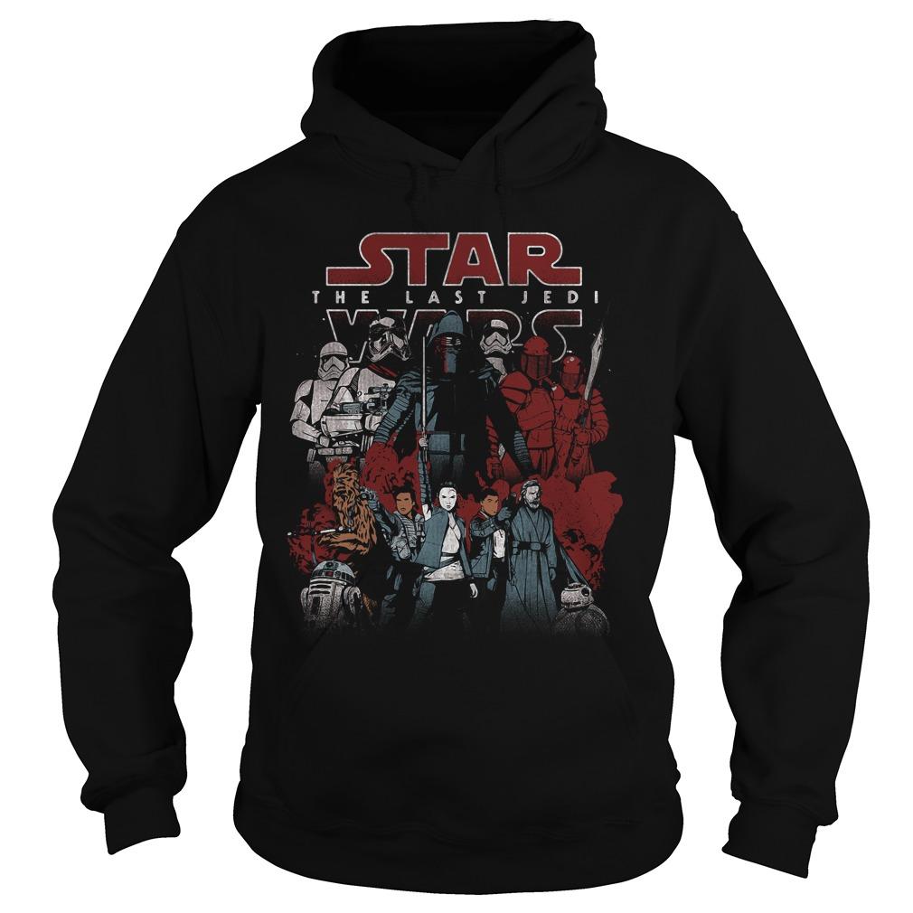 Star Wars Last Jedi Spectrum Light Dark Hoodie