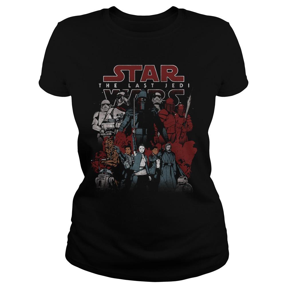 Star Wars Last Jedi Spectrum Light Dark Ladies Tee