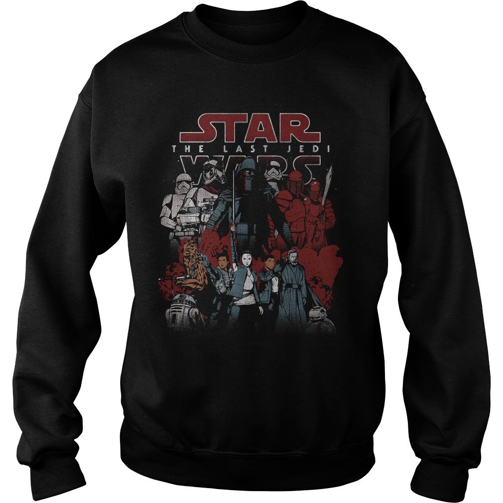 Star Wars Last Jedi Spectrum Light Dark Sweater