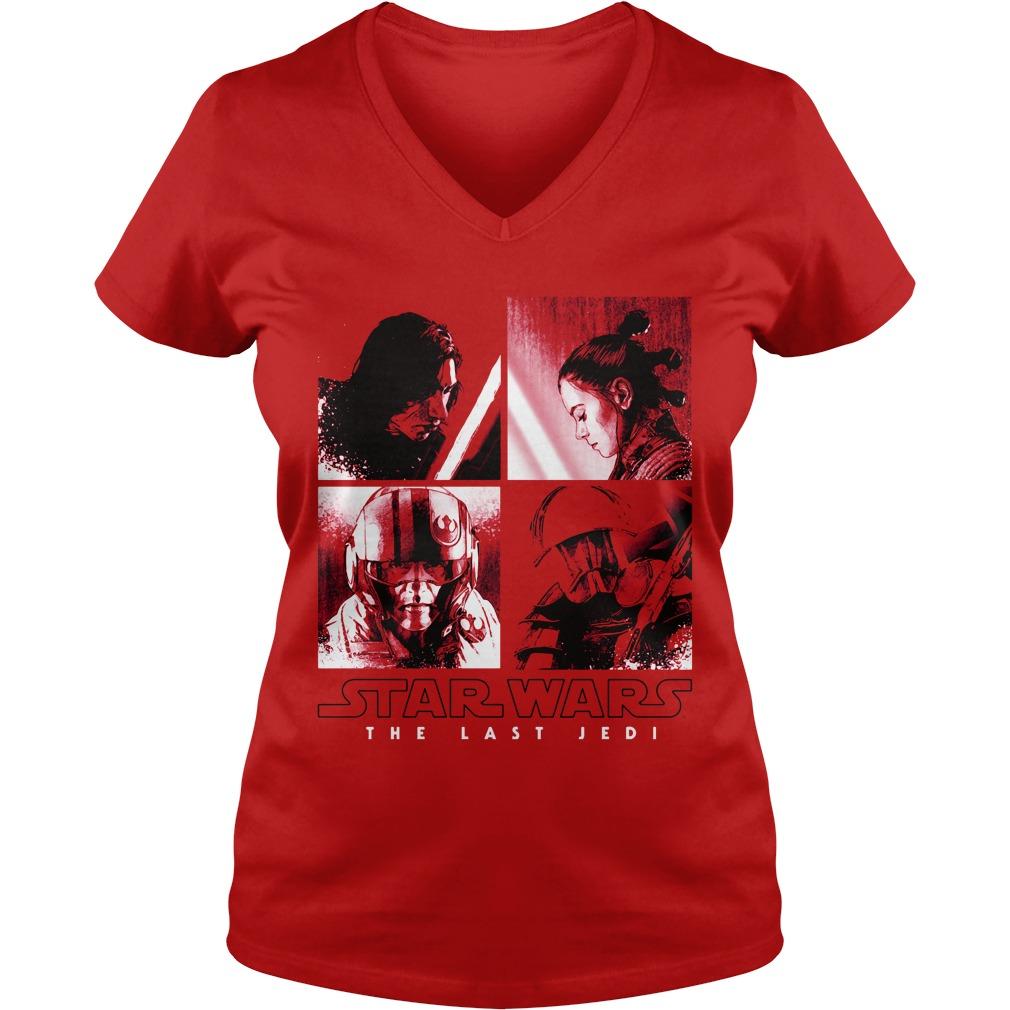 Star Wars Last Jedi Squared V-neck t-shirt