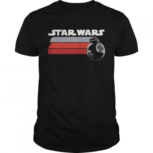 Stars Wars Last Jedi Silver Droid Streak Shirt