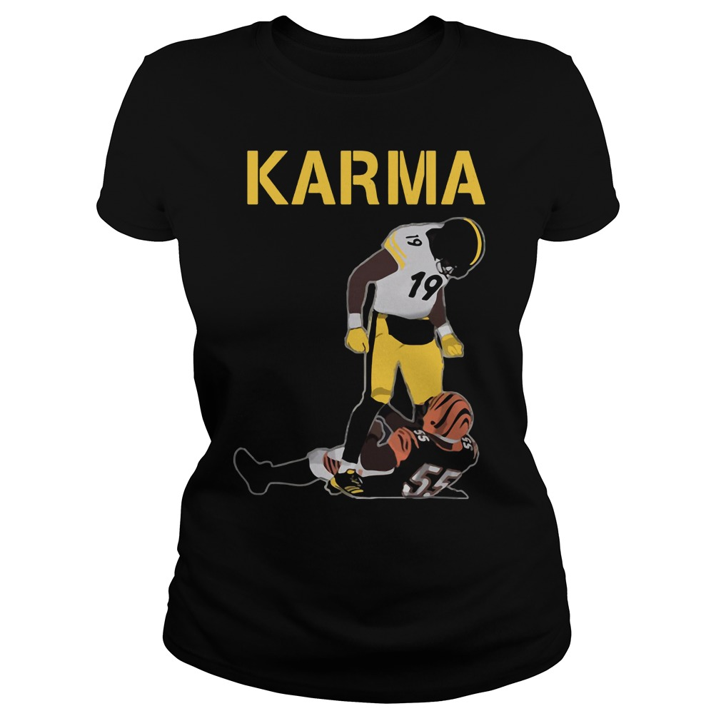 Steelers Karma Juju Smith Schuster Vontaze Burfict Ladies Tee