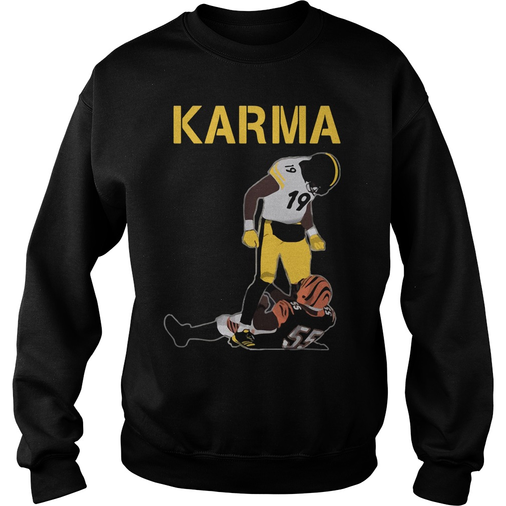 Steelers Karma Juju Smith Schuster Vontaze Burfict Sweater