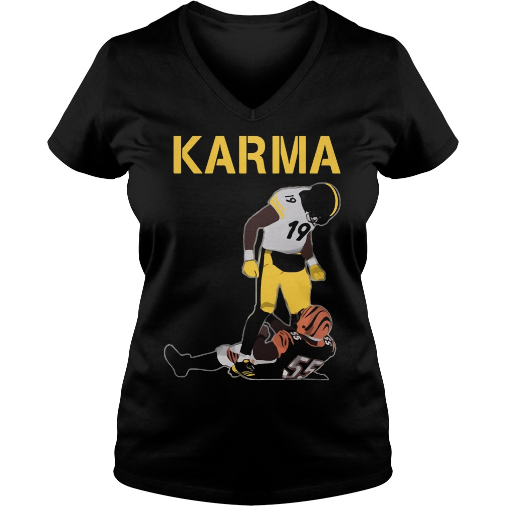 Steelers Karma Juju Smith Schuster Vontaze Burfict V Neck T Shirt