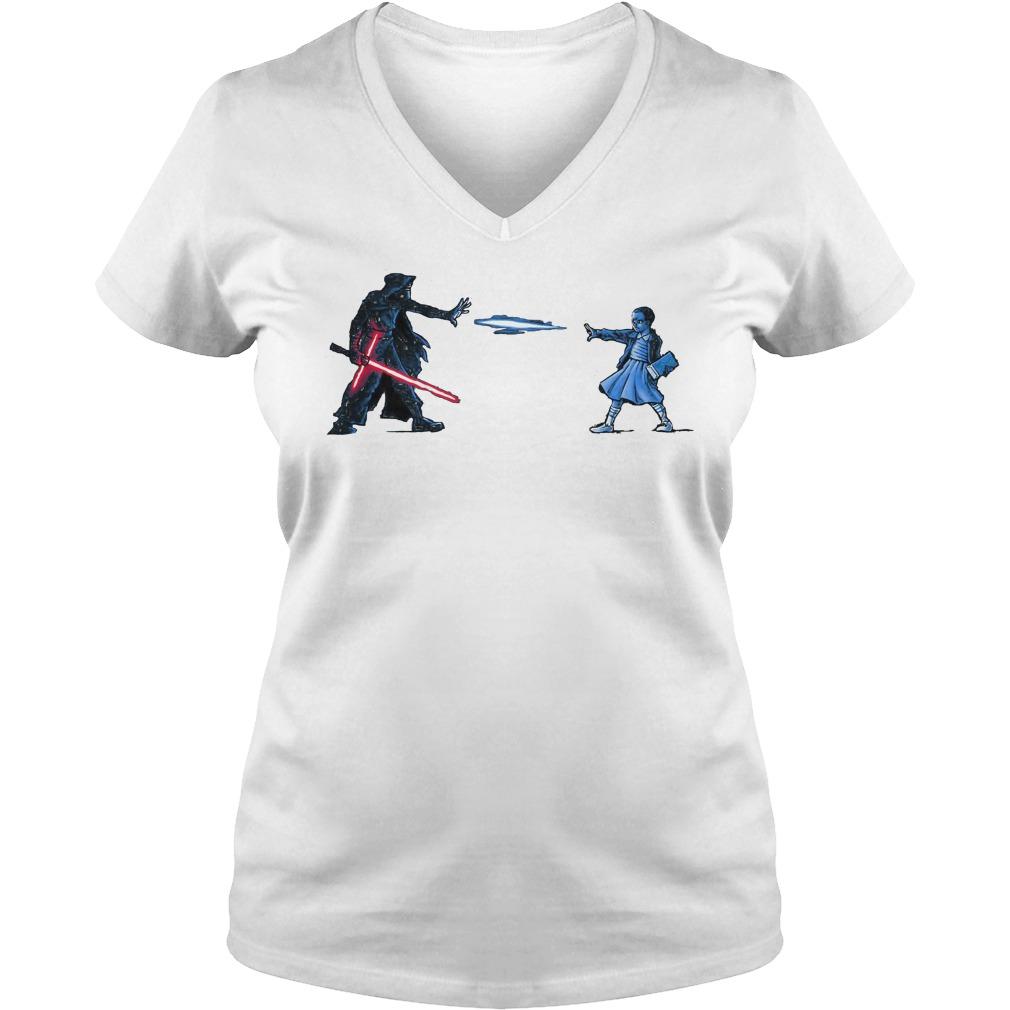 Strange Awakening Eleven Girl Vs Star War V Neck T Shirt
