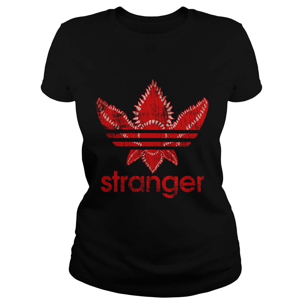 Stranger Things Adidas Red Shirt, Hoodie, Sweater And V Neck T Shirt