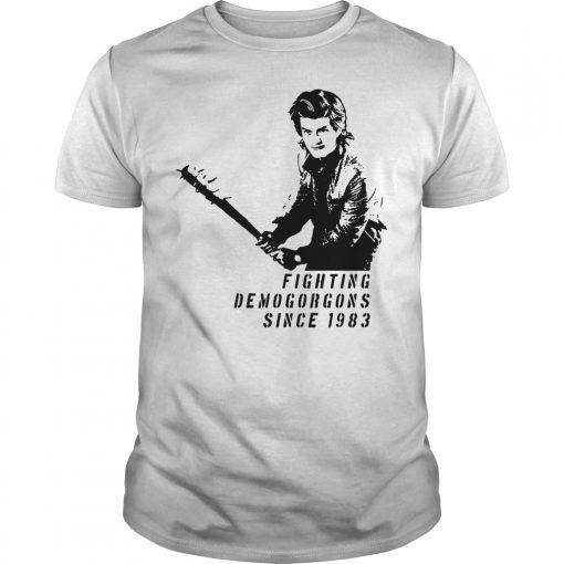 Stranger Things: Steve Harrington Fighting Demogorgons Since 1983 Shirt